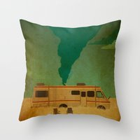 breaking Throw Pillows featuring Cooking by Danny Haas