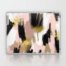 Blush and Gold Abstract Laptop & iPad Skin