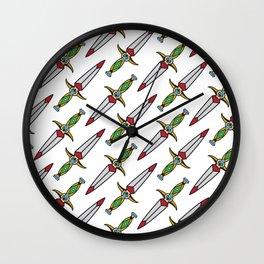 taditional Dagger pattern Wall Clock