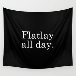 Flatlay All Day - Black Wall Tapestry