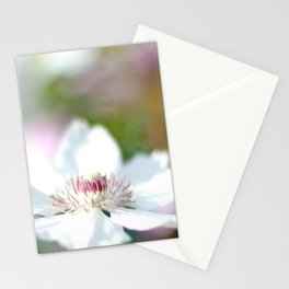 WHITE CLEMATIS Stationery Cards