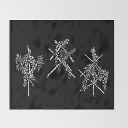 3 Runes Throw Blanket