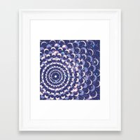 moon phases Framed Art Prints featuring Moon Phases by Cina Catteau