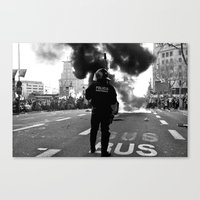 police Canvas Prints featuring Police by Antonio J. Galante Photographer