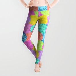 Scalloped Scallops Shells in Rainbow Leggings