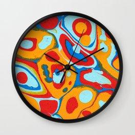 Flattened Harlequins Wall Clock
