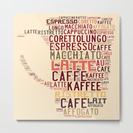 many types of coffee Metal Print