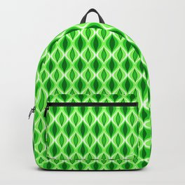 Mid-Century Modern Diamonds, Emerald & Lime Green Backpack