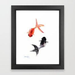 Two KOI , Feng Shui, Fish art, Framed Art Print