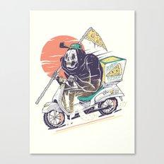 La Pizza De La Muerte Canvas Print