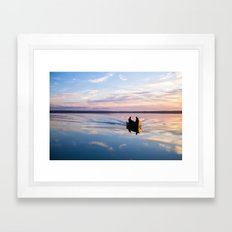Fishing On Gypsy Lake, Alberta. Framed Art Print