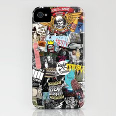 TROUBLE COLLAGE iPhone (4, 4s) Slim Case