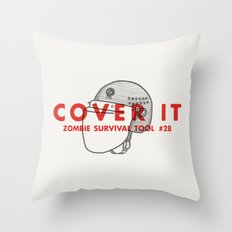 Cover it - Zombie Survival Tools Throw Pillow