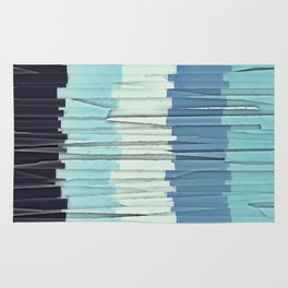 Blue Stripes Abstract Rug