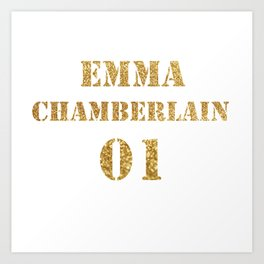 Ladies' Emma Chamberlain Youtube Vlogger Art Print