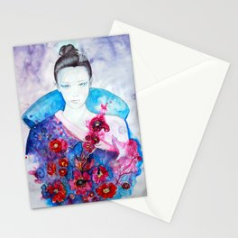 Birdy Lady Stationery Cards
