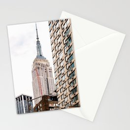 Empire State Building in New York Stationery Cards