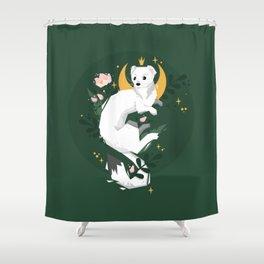 Magic Moon Stoat Shower Curtain