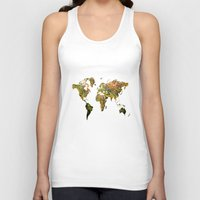 map of the world Tank Tops featuring world map by haroulita