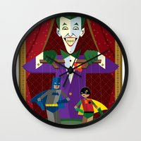 theater Wall Clocks featuring Joker's Theater by Szoki