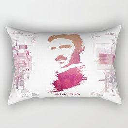 Nikola Tesla - Apparatus for aerial transportation Rectangular Pillow