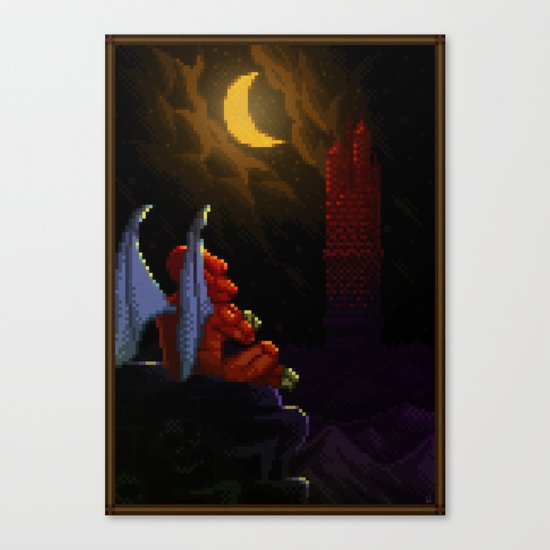 Pixel Art series 4 : Demon Canvas Print