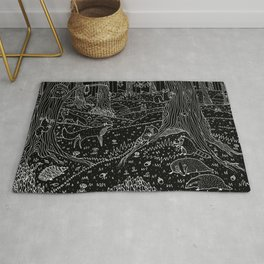 Nocturnal Animals of the Forest Rug
