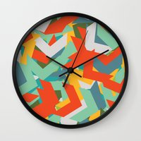 chevron Wall Clocks featuring Chevron by INDUR