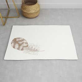 The Solitary Feather Rug