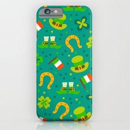 St Patrick's Day: Irish Luck Pattern iPhone Case