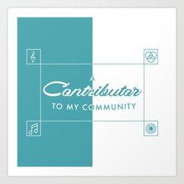 Contributor Art Print