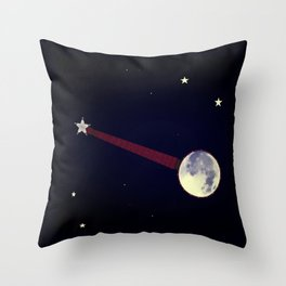 Moon Banjo Throw Pillow