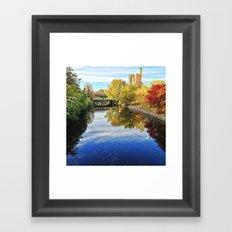 the canal Framed Art Print