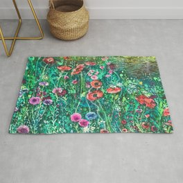 Poppies, Cornflowers and Spring Wildflowers at the Lagoon Rug