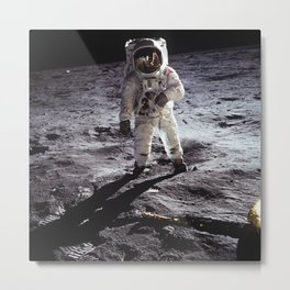 Apollo 11 - Iconic Buzz Aldrin On The Moon Metal Print