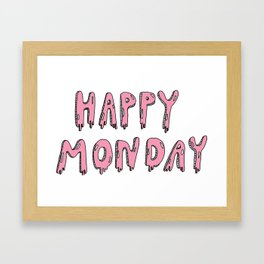 I hate Mondays Framed Art Print