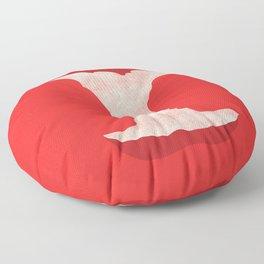 The apple of my eye Floor Pillow