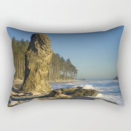 Sea Stack on Ruby Beach in Washington State Rectangular Pillow