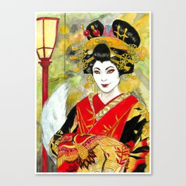 Lady Kitsune Canvas Print