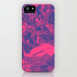 Pink and purple lava Marble aqrylic Liquid paint art iPhone Case