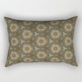 Brown Ancient Circles Pattern Rectangular Pillow