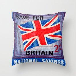 British War Savings Stamps Throw Pillow