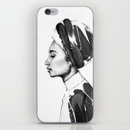 Portrait of a woman No.6 iPhone Skin