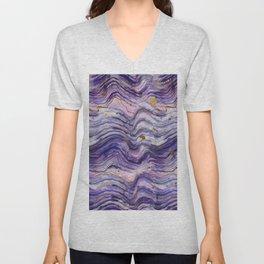 Purple Geode or Amethyst Unisex V-Neck