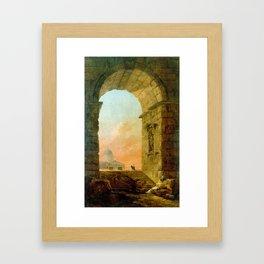 Hubert Robert Landscape with an Arch St. Peter's Framed Art Print