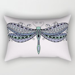 Dragonfly dreams purple Rectangular Pillow