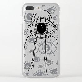Eye Am Eye Am Eye Am Clear iPhone Case