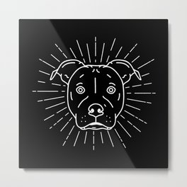 Radiant Dog Print – black and white Metal Print