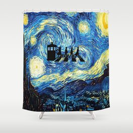 The Doctors Walking Of Starry Night Shower Curtain