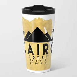 CAIRO EGYPT SILHOUETTE SKYLINE MAP ART Travel Mug